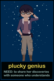 space pitch character - genius